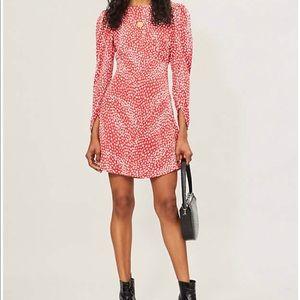 Maje Romie Animal Print Mini Dress, EU 38/ US 4